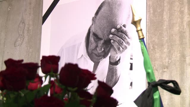 frances communist party has led tributes to oscar niemeyer the iconic brazilian architect who has died at the age of 104 clean france leads tributes... - oscar niemeyer stock videos and b-roll footage