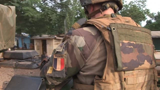 france's defence minister has urged soldiers to give themselves up if they are guilty of sexually assaulting hungry central african kids as questions... - army soldier stock videos & royalty-free footage