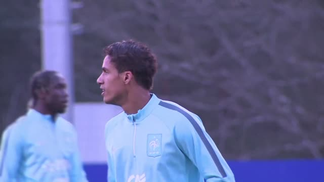 france's euro 2016 preparations took a knock on tuesday with key defender raphael varane ruled out of next months tournament with a serious left... - thigh human leg stock videos & royalty-free footage