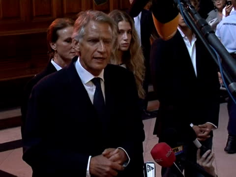 france's ex-prime minister dominique de villepin lashed out at nicolas sarkozy as he went on trial monday on charges of plotting to smear the... - president of france stock videos & royalty-free footage