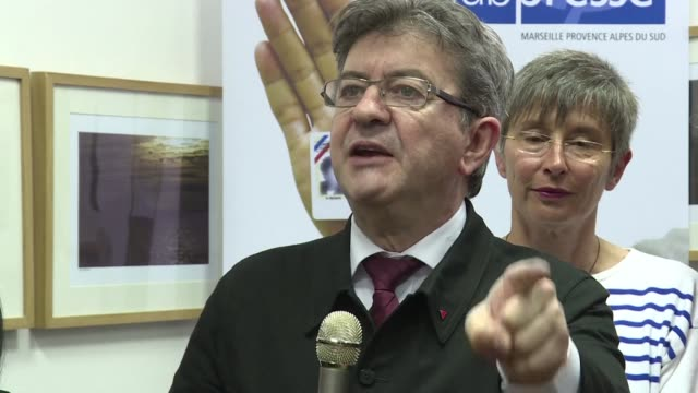france's failed hard left presidential candidate jean luc mélenchon on thursday launched his legislative bid in marseille saying he wanted to replace... - socialist party stock videos and b-roll footage