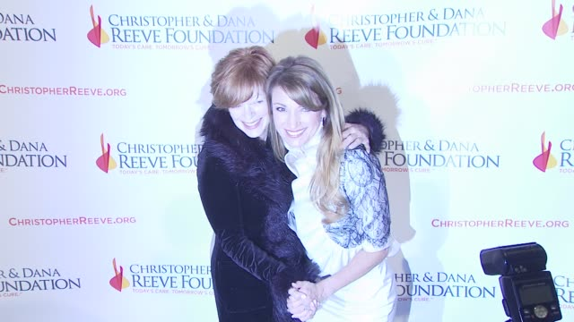 frances fisher and jane seymour at the 4th annual los angeles gala for the christopher dana reeve foundation at los angeles ca - christopher and dana reeve foundation stock videos and b-roll footage