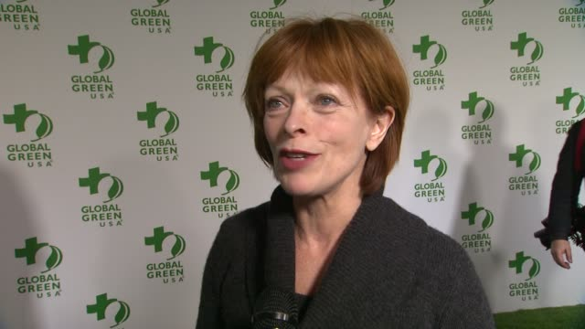 frances fisher on being at the event, and on how she stays green at global green usa 11th annual pre-oscar® party at avalon on february 26, 2014 in... - oscar party stock videos & royalty-free footage