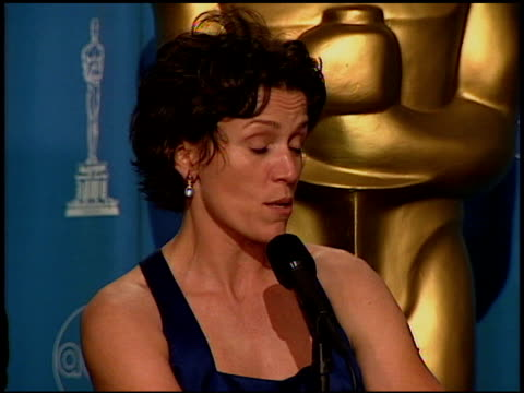 frances mcdormand at the 1997 academy awards governor's ball at the shrine auditorium in los angeles california on march 24 1997 - 69th annual academy awards stock videos & royalty-free footage