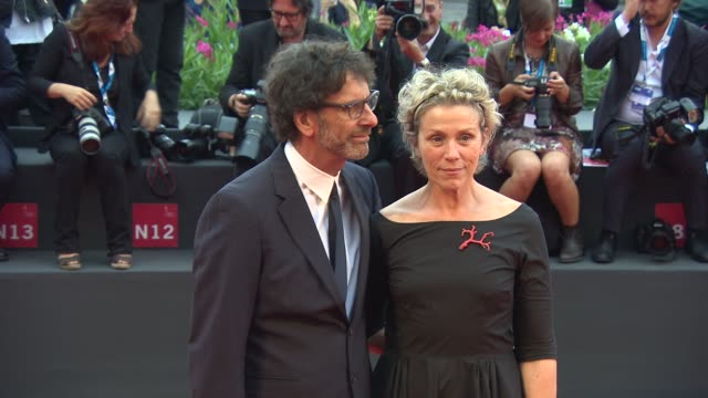 clean frances mcdormand joel coen richard jenkins sharon jenkins at persol tribute to visionary talent award frances mcdormand 71st venice... - tribute event stock videos & royalty-free footage