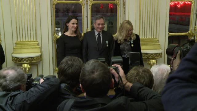 frances minister of culture aurelie filippetti on tuesday awarded french actress emmanuelle beart the prestigious officer of the order of arts and... - scriptwriter stock videos and b-roll footage