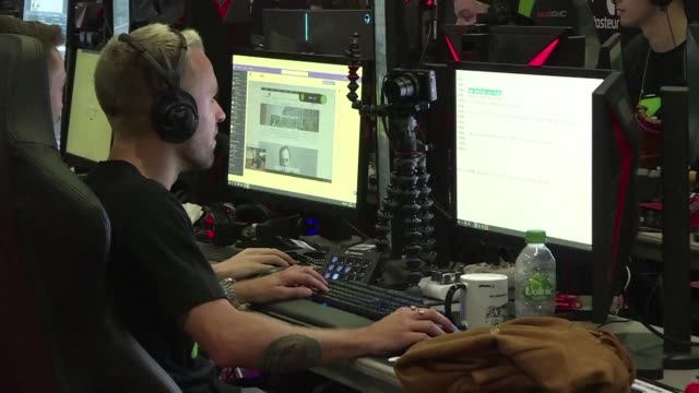 france's most popular streamers are gaming for charity: about fifty video game stars are gathered in montpellier for z event a marathon of more than... - arts culture and entertainment stock videos & royalty-free footage