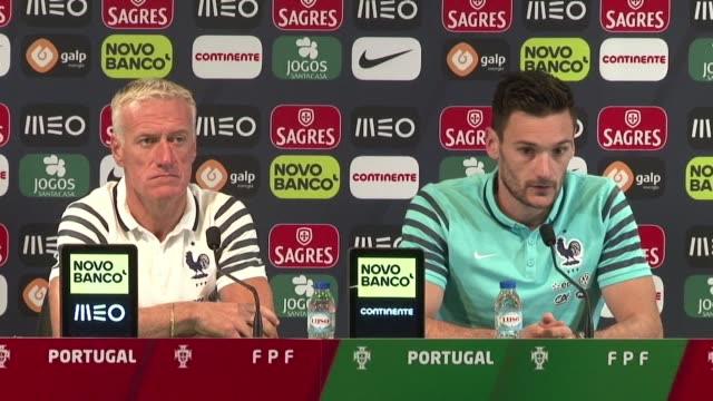 frances national football team will play portugal in a friendly match in lisbon on friday as both teams prepare for the euro 2016 tournament at the... - hugo lloris stock videos and b-roll footage