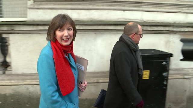 frances o'grady general secretary tuc arrives at downing street for brexit talks with the prime minister - governmental occupation stock videos & royalty-free footage