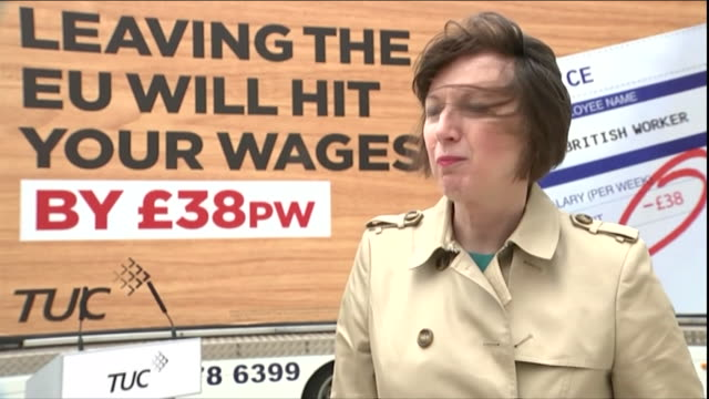 vidéos et rushes de frances o'grady the general secretary of the tuc fears wages will be hit if britain leaves the eu - conférencier