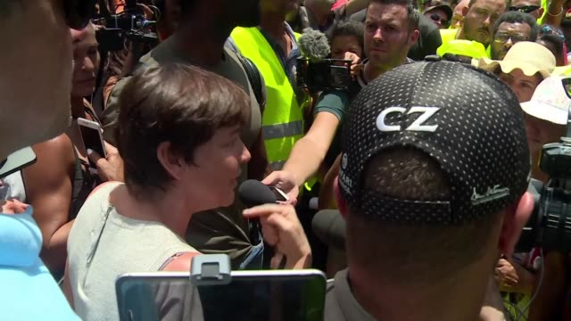 france's overseas territories minister annick girardin addresses yellow vest supporters in reunion island about their concerns following days of... - french overseas territory stock videos & royalty-free footage