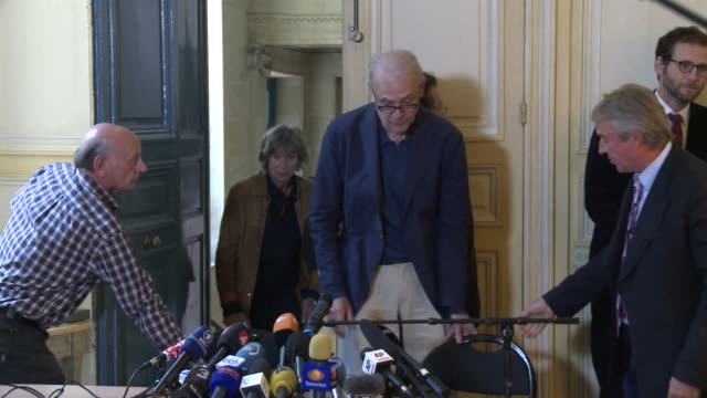 frances patrick modiano who won the nobel literature prize on thursday for his enigmatic novels rooted in the trauma of the nazi occupation and his... - nobel prize in literature stock videos & royalty-free footage