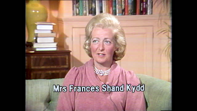 frances shand kydd, the mother of lady diana spencer, talks about her daughter's happiness on announcing the engagement with prince charles; 1981. - daughter stock videos & royalty-free footage