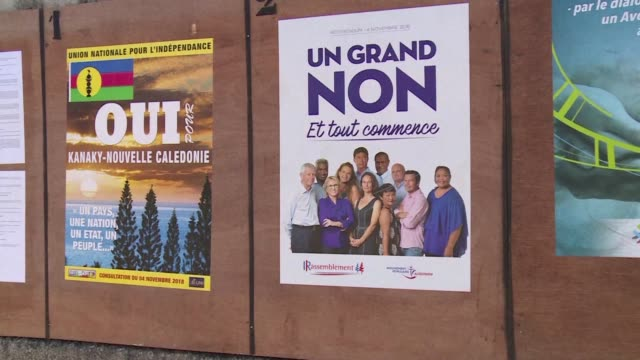 vídeos y material grabado en eventos de stock de france's tiny overseas territory new caledonia will vote on november 4 to decide whether to break from the old colonial master and choose independence - territorios franceses de ultramar