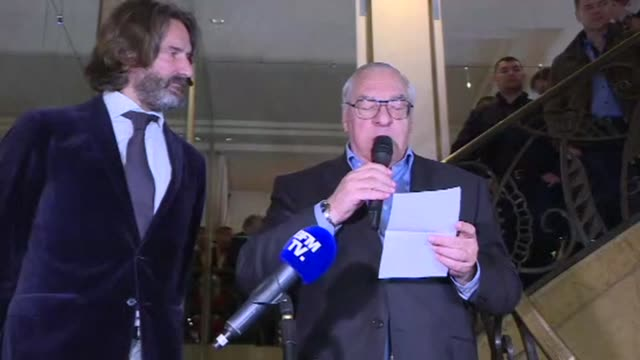 france's top literary award the prix goncourt is given to author eric vuillard for his book l'ordre du jour - ordre stock videos and b-roll footage