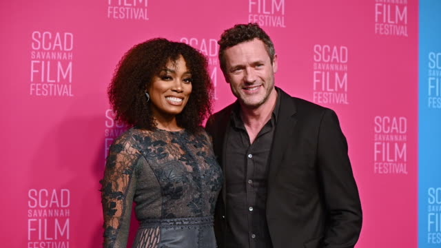 frances turner and jason o'mara at the 22nd scad savannah film festival – red carpet day 5 on october 30 2019 in savannah georgia - savannah georgia stock videos & royalty-free footage