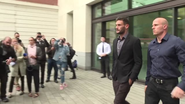 france's world cup winning goalkeeper hugo lloris avoided jail but received a 20 month driving ban and a £50000 fine on wednesday for drink driving... - hugo lloris stock videos and b-roll footage