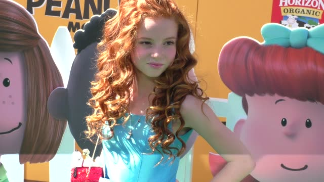 Francesca Capaldi at The Peanuts Movie Premiere at Regency Village Theatre in Westwood on November 01 2015 in Los Angeles California