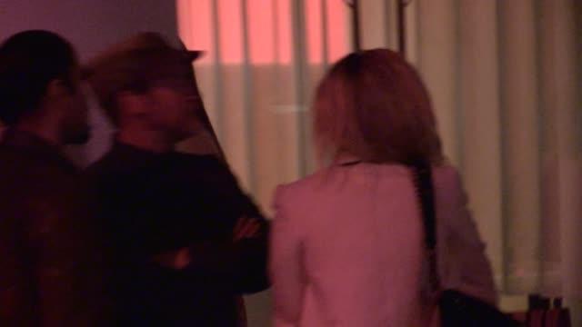 francesca eastwood departing the mondrian hotel in west hollywood - celebrity sightings in los angeles, ca on 11/07/13 - モンドリアンホテル点の映像素材/bロール