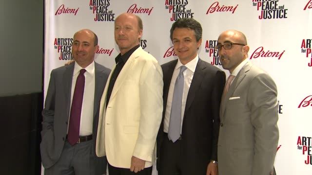 francesco pesci paul haggis angelo petrucci todd barrato at brioni rodeo drive boutique opening on 5/10/12 in los angeles ca - paul haggis stock videos and b-roll footage
