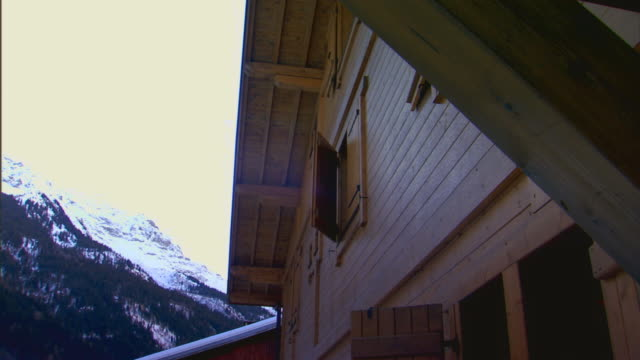 francetop of a building and mountains - chalet stock videos & royalty-free footage