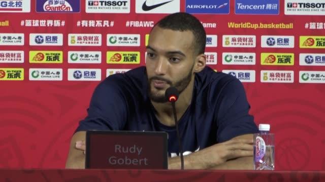 vídeos y material grabado en eventos de stock de francia dio el miercoles la gran sorpresa del mundial de basquet al eliminar a estados unidos por 8979 en su duelo de cuartos de final - ee.uu