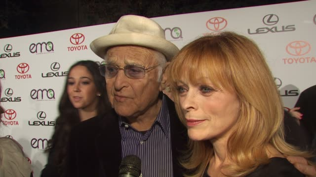 francis fischer and norman lear on being here on norman being one of the co founders with his wife and cindy horn at the environmental media... - norman lear stock videos and b-roll footage