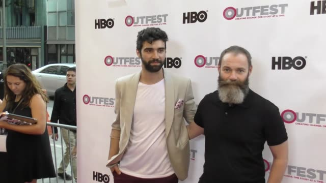 vídeos de stock, filmes e b-roll de francis lee alec secareanu at the 2017 outfest los angeles lgbt film festival opening night gala of god's own country at orpheum theatre on july 06... - alec secareanu