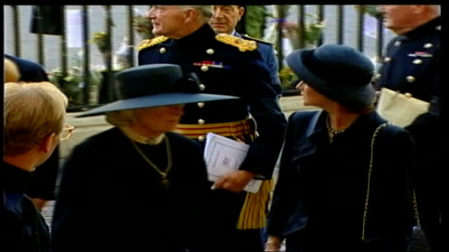 francis shand kydd dies lib london ext frances shand kydd at princess diana's funeral - frances shand kydd stock videos & royalty-free footage