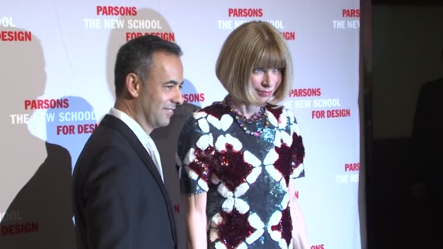 Francisco Costa and Anna Wintour at the 2009 Parsons Fashion Benefit Honoring Calvin Klein at New York NY