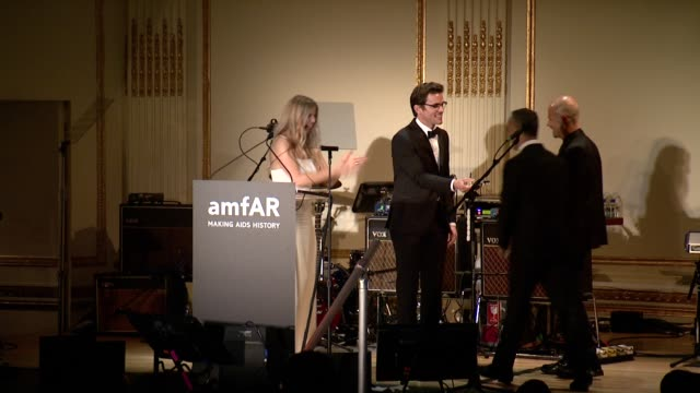 francisco costa and italo zucchelli receive awards from fergie duhamel and matt bomer at the amfar inspiration gala new york 2014 at the plaza hotel... - fergie duhamel stock videos and b-roll footage