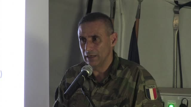 francisco sorian commander of the french operation sangaris in the central african republic sums up the four month security operation clean bangui... - french army stock videos & royalty-free footage