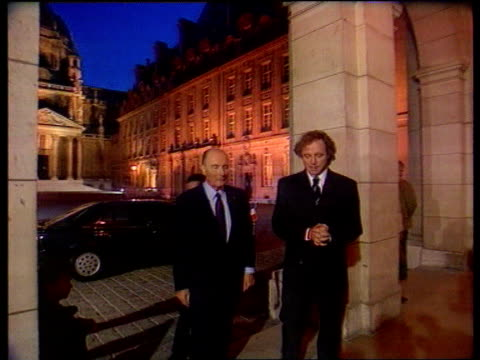 Prostate gland operation C4N FRANCE Paris MS Francois Mitterand arriving at Sorbonne for TV debate on Maastricht TRACK BACK TX