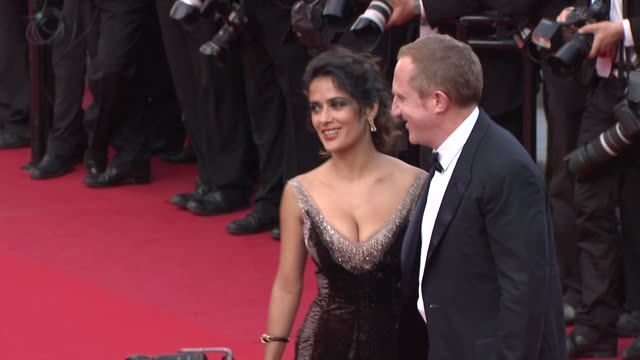 stockvideo's en b-roll-footage met francoishenri pinault and salma hayek at once upon a time in america premiere 65th cannes film festival on may 18 2012 in cannes france once upon a... - salma hayek