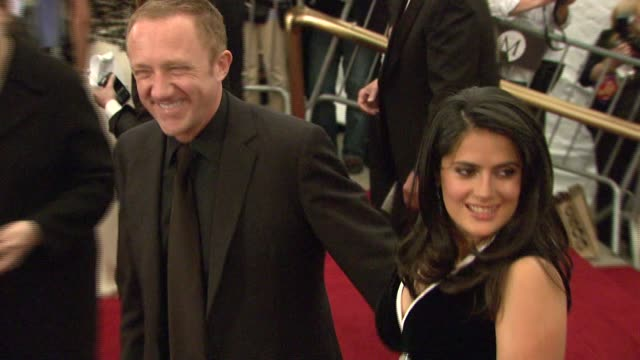 francoishenri pinault and salma hayek at the metropolitan museum of art costume institute gala 'poiret king of fashion' at the metropolitan museum of... - gala stock videos and b-roll footage
