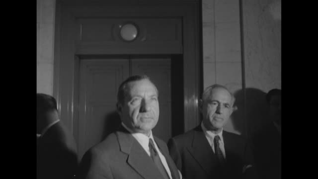 vs frank costello and attorney george wolf waiting for elevator - mafia stock videos and b-roll footage
