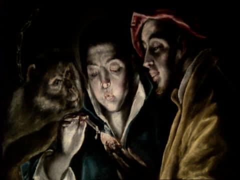 frank dunlop profile; scottish national gallery: el greco exhibition; paintings on display; - el greco stock videos & royalty-free footage