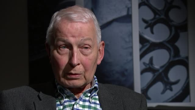 frank field resigns the labour whip over anti-semitism row; england: london: westminster: int frank field mp interview sot. cutaway reporter - mp stock videos & royalty-free footage