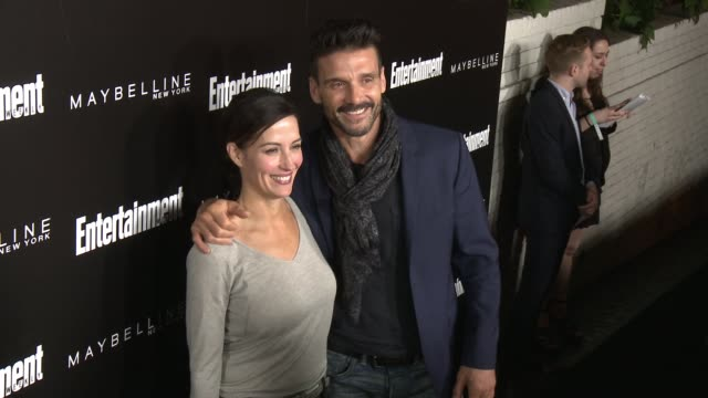 frank grillo and wendy moniz at 2016 entertainment weekly screen actors guild party at chateau marmont on january 29 2016 in los angeles california - entertainment weekly stock-videos und b-roll-filmmaterial