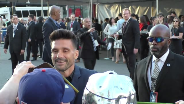 stockvideo's en b-roll-footage met frank grillo arriving to captain america civil war premiere at dolby theatre in in hollywood in celebrity sightings in los angeles - dolby theatre