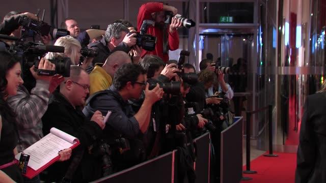 frank kelly and baibre neldon at the the irish film & television awards at dublin . - irish film and television awards stock videos & royalty-free footage
