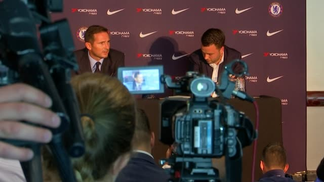Frank Lampard appointed as manager of Chelsea ENGLAND London Stamford Bridge INT Frank Lampard into press conference as introduced as the new Head...