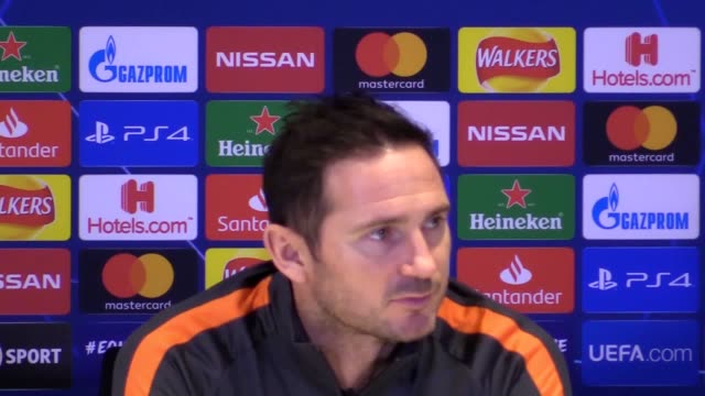 frank lampard has urged his young chelsea side to improve after securing progression to the champions league knockout stages with a 21 win over lille - lille stock videos & royalty-free footage