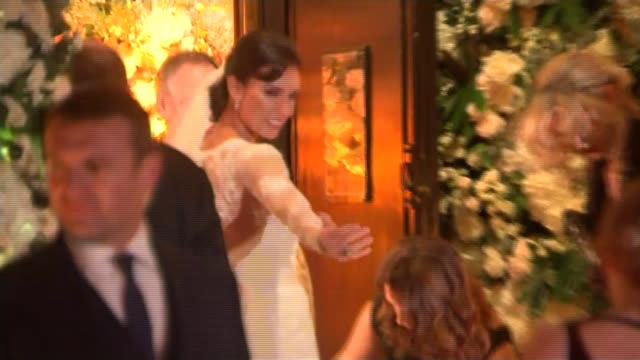 frank lampard marries christine bleakley england london knightsbride ext / night footballer frank lampard arriving at church to marry his fiancee... - fiancé stock videos and b-roll footage