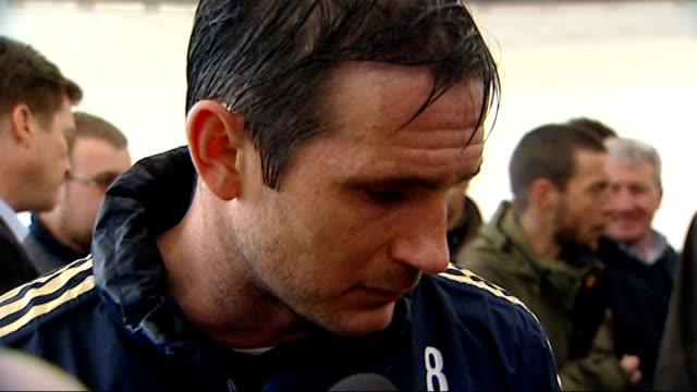 frank lampard says he would love to see jose mourinho return to chelsea england surrey cobham int frank lampard interview sot would be great thing... - コブハム点の映像素材/bロール