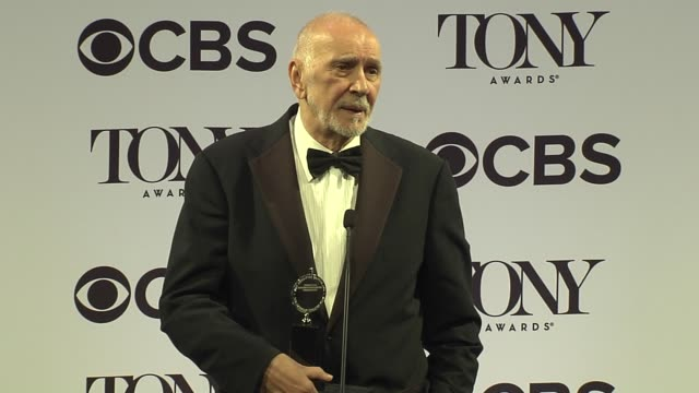 interview frank langella talks about having a brother with dementia at 2016 tony awards press room at the beacon theatre on june 12 2016 in new york... - 70th annual tony awards stock videos and b-roll footage