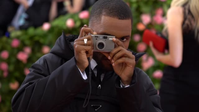 frank ocean at the 2019 met gala celebrating camp notes on fashion arrivals at metropolitan museum of art on may 06 2019 in new york city - met gala 2019 stock videos and b-roll footage