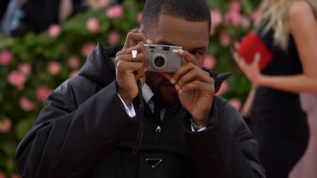 frank ocean at the 2019 met gala celebrating camp notes on fashion arrivals at metropolitan museum of art on may 06 2019 in new york city - gif file format extension stock videos & royalty-free footage