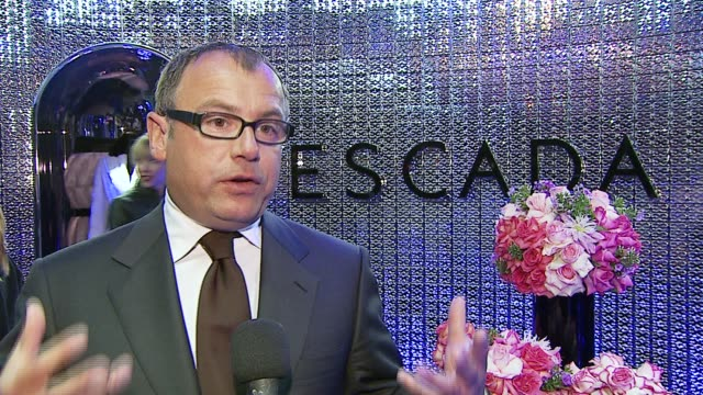 frank rheinboldt on why tonight's event is exciting, on what this means for escada, on why the store is so unique, on favorite design elements of the... - escada stock videos & royalty-free footage
