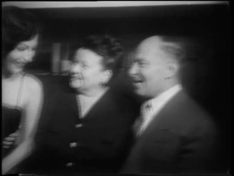 "frank sinatra + ava gardner talking with frank's parents at ""meet danny wilson"" premiere - ava gardner stock videos & royalty-free footage"